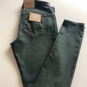 Brand new AG Adriano Goldschmied army green jeans